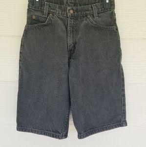 Rare! Vtg 90s Levis 550- White Tab Jean Shorts, Regular 14, Black Denim